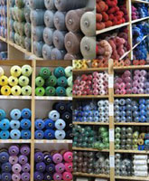 yarns in the Vavstuga store